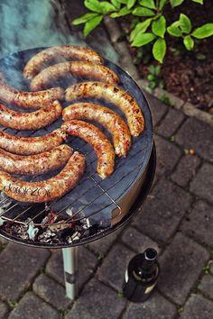 White sausage grilled with honey - spicy marinade @smakuje.blox.pl