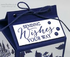 Stampin' Up! Demonstrator Pootles –Blue Floral Fat Milk Carton using Floral Boutique DSP Inspiration is everywhere isn't it? It's in the things we see around us, and in sou…