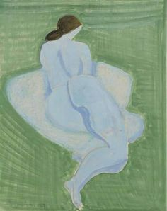 Nude Resting - Milton Avery , 1963.American,1885-1965 oil on...