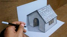 Trick Art Drawing 3D Tiny House on paper - YouTube