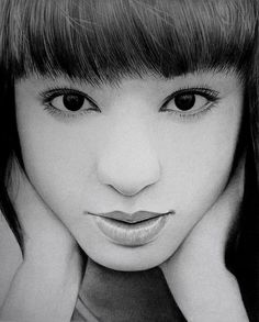 chiaki kuriyama   close up by  ken lee - Pencil Drawings by Ken Lee  <3 <3