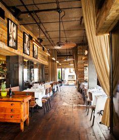 Barcelona Atlanta Wine Bar. This is a beautiful space; hard wood floors, rustic interior and natural lighting.