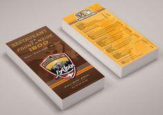 Réalisation des flyers de l'Alpin Restaurant destinés aux futurs clients de l'enseigne