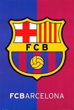 Amazon.com: (24x36) FC Barcelona Crest Sports Poster Print: Home & Kitchen