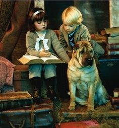 Children Sharing a Book ~~~ from         * b o n * c h i c * b o n * g e n r e *