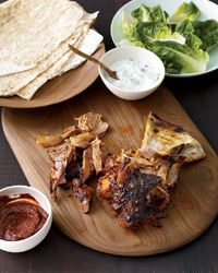 Slow Roasted Lamb Shoulder with Homemade Harissa Recipe from Food & Wine