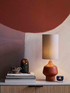 John Lewis & Partners Shallot Ceramic Table Lamp, Fjord