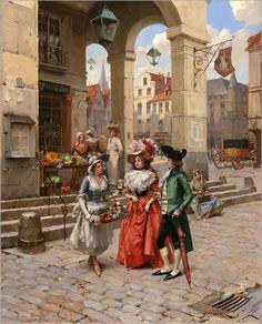 La Porte Neuve - Henry Victor Lesur(frencch-1863-1900)