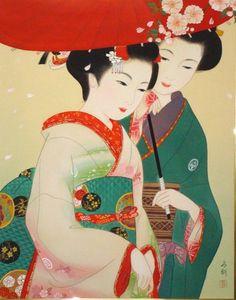 双人行 women dressed in kimono