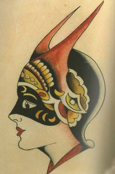 Amund Dietzel lady head (nothing to do with the circus tattoos but lovely)