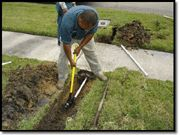 How To Dig & Run Pipe Under A Driveway Or Sidewalk running irrigation pipe under sidewalk