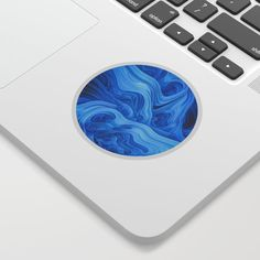 Abstract Design Sticker by lovefi Cool Stickers, Blue Abstract, Surreal Art, Surrealism, Notebooks, Laptops, Printer, Adhesive, Phones