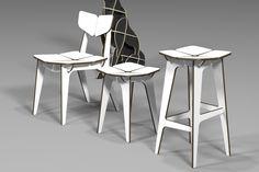 TETRA  CHAIR (HPL) / CNC ROUTER  /  3D DESIGN / 유창석  www.joinxstudio.com