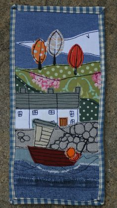www.facebook.com/zoewrighttextiles #Cornwall #fishingboat #Cottages