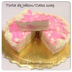 Torta de Jabon con Yogurt. Hidratante, antioxidante y nutritiva. Detalles para la maestra. #verd_e #jabonartesanal