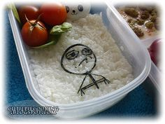Bento motywacyjne inspirowane TYM MEME :) == A motivational bento inpired by THIS MEME Nuggetsy, sos, pomidorki, szpinak, ryż - . Challenge Accepted, Weekend Fun, Bento Box, Cute Food, Boxes, Challenges, Japan, Awesome Stuff, Cooking