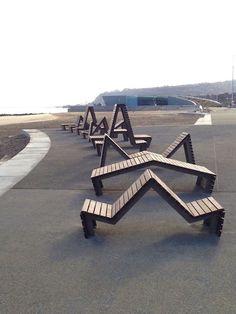 Goose Foot Street Furniture: Bespoke seating for Colwyn Bay promenade 2 of 3  https://www.djpeter.co.za #streetfurniture