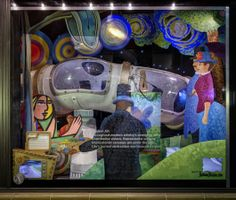"""Neiman Marcus, Dallas, """"Holiday Crawl Tube Windows."""" Photography: Charlie Mayer, Chicago (more: http://vmsd.com/content/holiday-windows-2014-2)"""