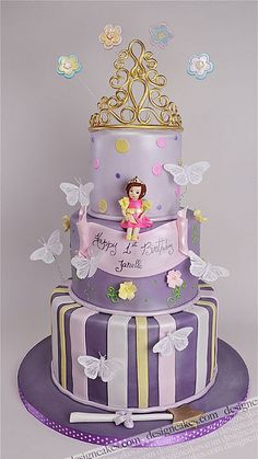Little Princess Cake Pretty Cakes, Beautiful Cakes, Amazing Cakes, Girly Cakes, Fancy Cakes, Pink Cakes, Tiara Cake, Cake Pops, Foto Pastel