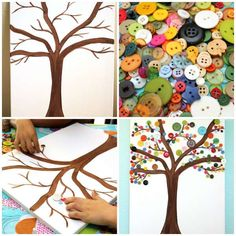 Take a look at these great 19 DIY activities for kids - Crafts - Tips and Crafts Button Art, Button Crafts, Craft Beer Advent Calendar, Fall Crafts, Diy And Crafts, Easter Crafts, Diy For Kids, Crafts For Kids, Children Crafts