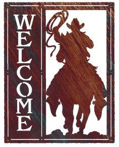 Welcome Signs SQ Cowboss large image