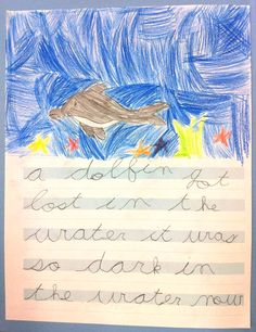 """""""The child's explosion into writing is closely connected with his special sensitivity for language. ... It is clear that writing can be learned with joy and enthusiasm only before [the age of six].""""--Dr. Maria Montessori"""
