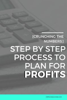 Step by step process to plan for profits