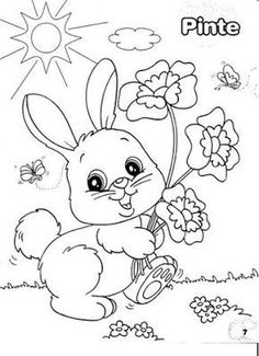 Easter Coloring Page Easter Coloring Sheets, Spring Coloring Pages, Easter Colouring, Cute Coloring Pages, Animal Coloring Pages, Printable Coloring Pages, Free Coloring, Adult Coloring Pages, Coloring Pages For Kids