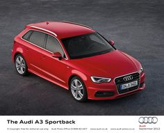 The Audi A3 Sportback s line red