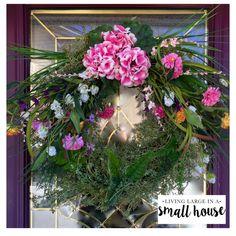 My DIY Spring Wreath.  My inspiration was a wreath from a catalog.  My Wreath $40 - Catalog $349