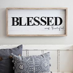 Our Blessed Shiplap Shadowbox will let you express how blessed you really are. Its shiplap finish and sentimental phrase is the perfect accent for your wall. Frames On Wall, Framed Wall Art, Wall Art Decor, Kirkland Home Decor, White Shiplap, Modern Farmhouse Decor, Farmhouse Signs, Farmhouse Style, Monogram Wall