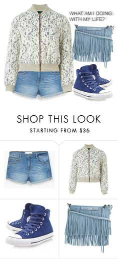 """""""Can't We Be Seventeen?"""" by breynolds1 ❤ liked on Polyvore featuring MANGO, Jean-Paul Gaultier, Converse and Rebecca Minkoff"""
