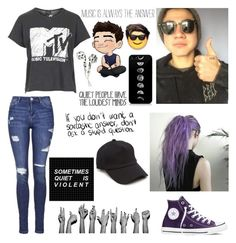 """Calum is my favorite"" by fan-of-5-seconds-of-summer ❤ liked on Polyvore featuring Topshop, Converse and rag & bone"