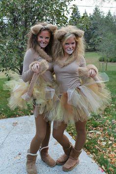 karneval kostüm selber machen löwinnen