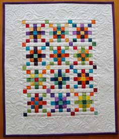 Fiesta Mini Quilt #quilt #quilting #longarm #machinequilting #tinlizzie18