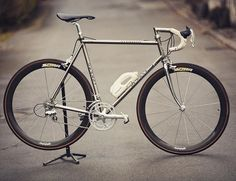 """De Rosa Titanio Road Bike @derosabikes posted up by colnagosan more info and pics at flickr.com/photos/colnagosan/ #cycling #biking #roadbike #classic…"""