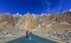 Walking alone. Pakistan