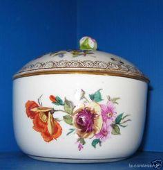 Pot couvert porcelaine de Meissen