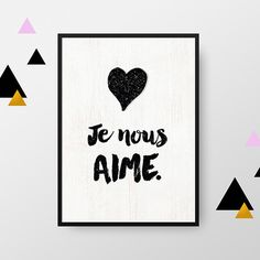 Valentine's Day Quotes : QUOTATION - Image : Quotes Of the day - Description Affiche : Je nous aime Sharing is Power - Don't forget to share this quote Valentine's Day Quotes, Family Quotes, Best Quotes, 365 Jar, A4 Poster, Spiritus, Love Dating, French Quotes, Romantic Love Quotes