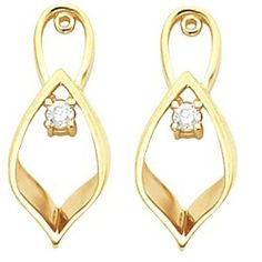 Pair of 10K Yellow Gold Diamond Earring Jackets - 0.16 Ct. Gems-is-Me. $749.58. This item will be gift wrapped in a beautiful gift bag. In addition, a 'gift message' can be added.. FREE PRIORITY SHIPPING. Save 40%!