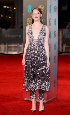You'll Want to See What Emma Stone's Wearing Under Her BAFTAs Dress