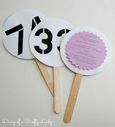 Creative Auction Paddle Ideas | Popsicle stick & paper ...