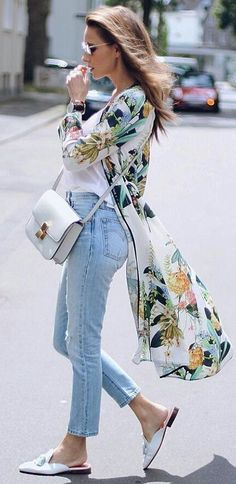 #summer #fashion Gorgeous Summer Look Kimono Floral Print