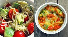 Low Carb Rezept für leckeres Avocado-Tomaten-Gratin. Wenig Kohlenhydrate und einfach zum Nachkochen. Super für Diät/zum Abnehmen.