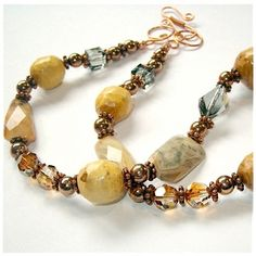 handmade necklace agates | Eclectic Gemstone Necklace Agate & Handmade by RoughMagicCreations, $ ...
