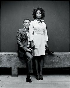 Lorna Simpson and hubby  James Casebere