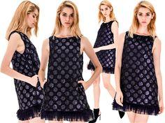Nomanica #sequin #dotted #A-line #dress - Fashion9shop.com