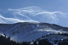 Snow Billows above the Rockies