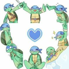 Hi is so cute 💙💙💙💙 Teenage Ninja Turtles, Ninja Turtles Art, Tortugas Ninja Leonardo, Turtles Forever, Tmnt Leo, Tmnt Girls, Leonardo Tmnt, Boboiboy Galaxy, Tmnt 2012