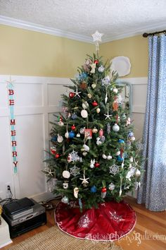 Decorate Christmas Tree Without Ornaments blue ocean (surf and sand) 9 foot themed christmas tree | themed